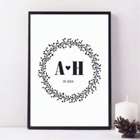 Personalised Couple's Floral Print
