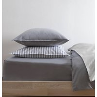 Plain Jacquard Blue Grey Pillowcase