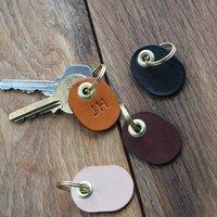 Personalised Leather Key Tag