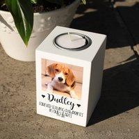 Personalised Pet Photo Memorial Tealight Holder