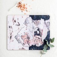 Navy And Blush, Abstract Texture Placemats