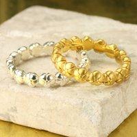 Personalised Flower Eternity Ring