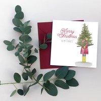 To My Fiancee Christmas Card