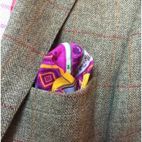 Two Mens Linen Pocket Squares
