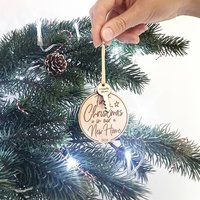 First Christmas New Home Wooden Christmas Decoration
