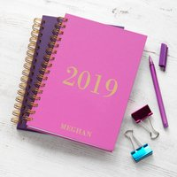 Personalised Traditional 2020 Weekly Diary