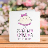Brand New Grandmother Personalised New Baby Card