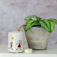 Personalised Childs Drawing Candle Holder