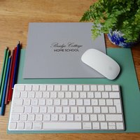 Home School Leather Mouse Mat Or Desk Mat