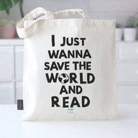 'Save The World And Read' Book Club Bag