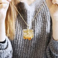 Bee And Citrine Gemstone Necklace