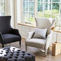 Bromley Wing Back Chair, Grey/Charcoal