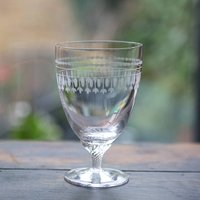 Set Of Six Ovals Design Bistro Wine Glasses