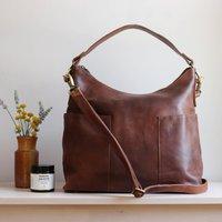 Leather Slip Pocket Handbag