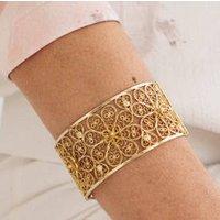 Gold Filigree Rosette Bangle, Gold
