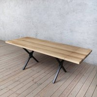 Kew Extendable Solid Oak Dining Table X Shaped Legs