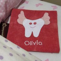 Personalised Tooth Fairy Bags, Pink/Blue
