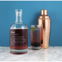 Funny Personalised Port Definition Decanter 700ml