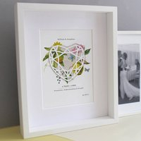 Linen Four Years Anniversary Personalised Print