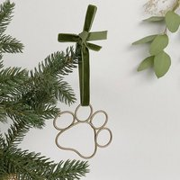 Wire Paw Christmas Tree Decoration