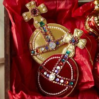 Set Of Royal Regal Orb Christmas Decorations