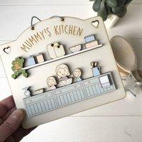Personalised Grandma Or Mummys Kitchen Sign