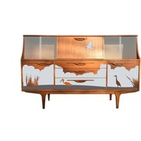 Mid Century Formica Heron Design G Plan Teak Highboard