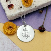 Personalised Floral Initial Necklace