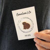 Papa Bear Pin Badge Gift