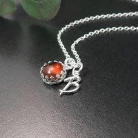 Amber Necklace, Personalised November Birthstone