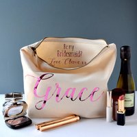 Be My Bridesmaid Secret Message Toiletry Bag