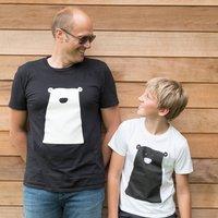 Organic Clueless Bear Tshirt Mens
