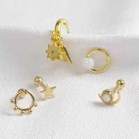 Carly Rowena Gold Curated Earring Set, Gold