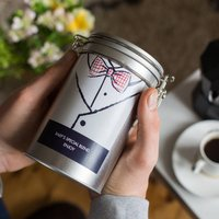 Novelty Bow Tie Personalised Coffee Gift In Tin