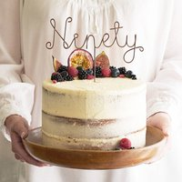 Ninety Wire Birthday Cake Topper, Copper/Gold/Silver