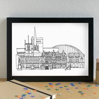 Blackburn Skyline Art Print Unframed