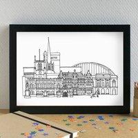 Blackburn Skyline Art Print Unframed