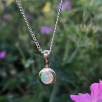 Genuine Opal October Birthstone Pendant
