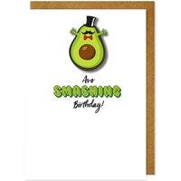Handmade Avo Smashing Birthday Avocado Card