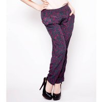 Viola Relaxed Fit Silk Trousers, Black