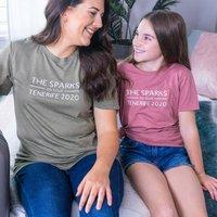Personalised Family Holiday Tshirt Set