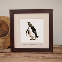 Penguin Print 'Love You To The Moon And Back'