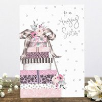 'Amazing Sister' Birthday Greetings Card