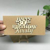Personalised 30th Birthday Card Keepsake