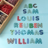 Alphabet Patchwork Iron On Letters