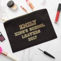 Personalised School Leavers Graduation Make Up Bag