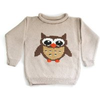 Handmade Knitted Owl Jumper And Knitted Shorts