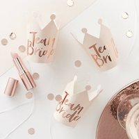 Rose Gold Team Bride Hen Party Mini Party Crowns