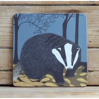 Nocturnal Coasters Choice Of Badger, Hedgehog And Hare