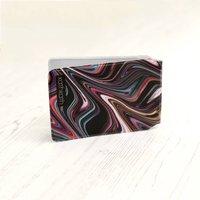 Retro Marble Travel Card Holder